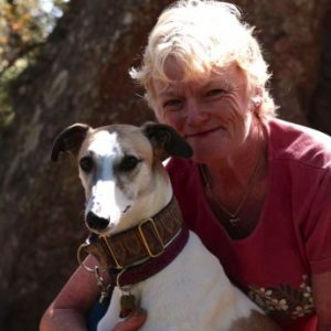 Marcia and her hound